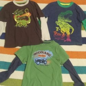 2 FOR $10. THREE SIZE 5 T BOY LSLEEVE SHIRTS